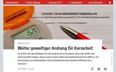 ORF berichtet: Weiter gewaltiger Andrang für Kurzarbeit